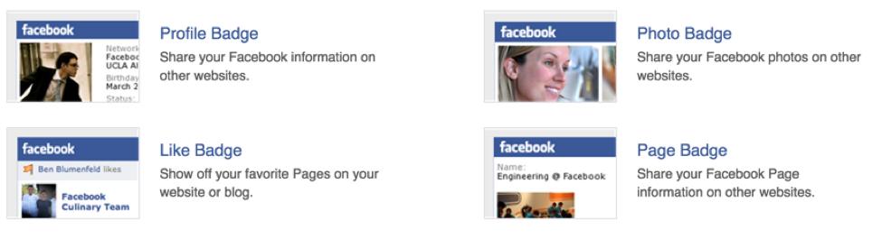 Emblemas do Facebook