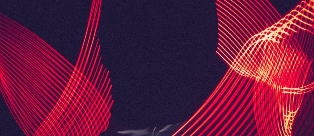 red led light with silhouette of a man
